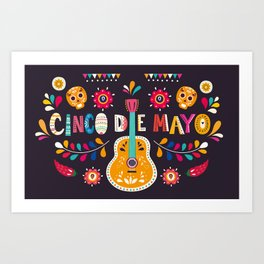 Cinco de Mayo – Guitar Art Print
