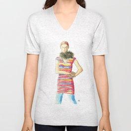Striped Dress Unisex V-Neck