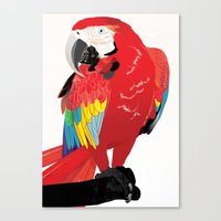 wasted rita Canvas Prints featuring Rita  by Nicholas Darby