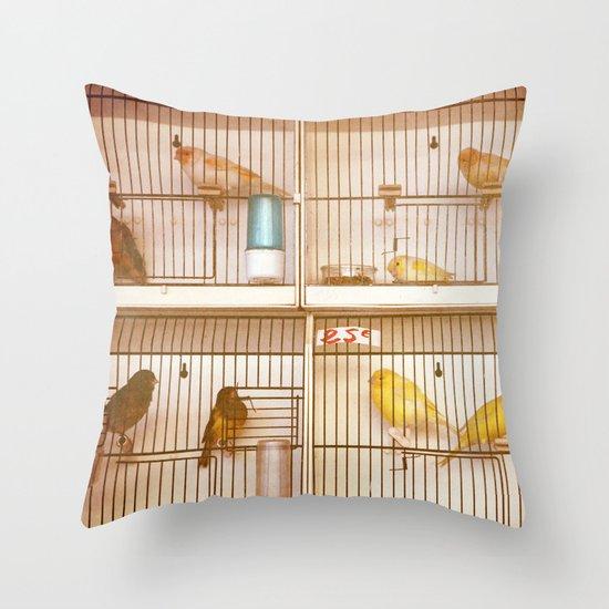 Marche Aux Oiseaux 2 Throw Pillow