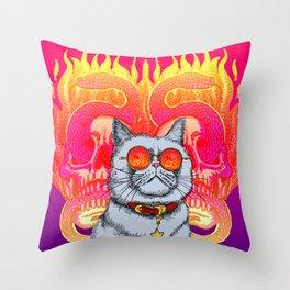 Natural Born Kittens Throw Pillow