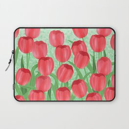 Red Tulip Field Laptop Sleeve