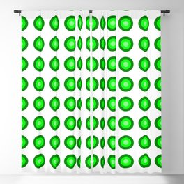 Bullseye -- Lime Blackout Curtain