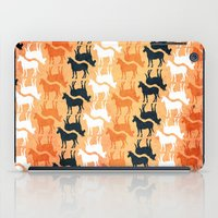 striped iPad Cases featuring Striped Unicorn by That's So Unicorny