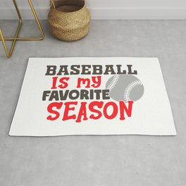 Baseball Is My Favorite Season Funny Rug