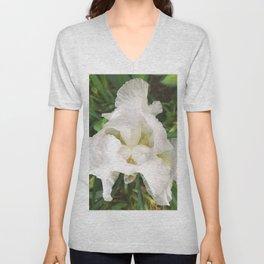 493 - White Iris Unisex V-Neck