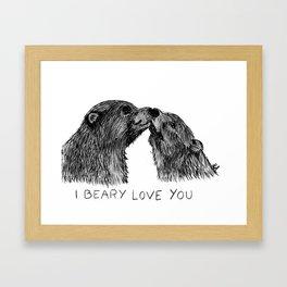 I beary love you Framed Art Print