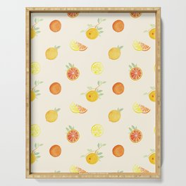 Citrus Fruits Print Serving Tray