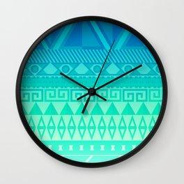 Blue Mayan Wall Clock