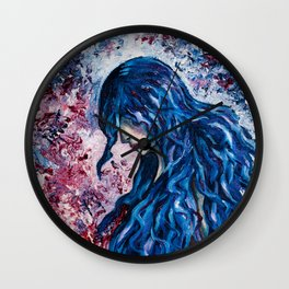 Wind in my hair Wall Clock