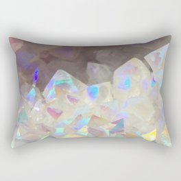 Iridescent Aura Crystals Rectangular Pillow