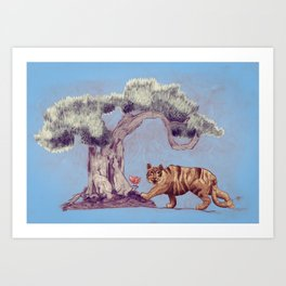 bonzai and tiger Art Print