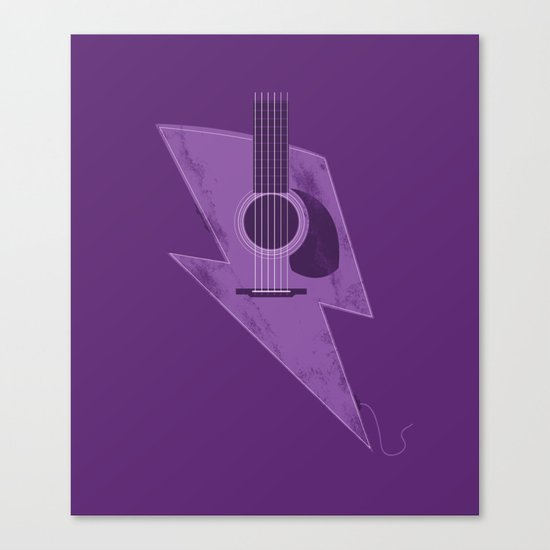 Electric - Acoustic Lightning Canvas Print