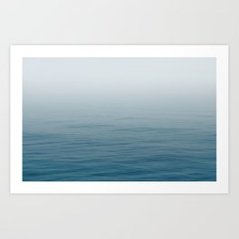 Ocean Blue Gradient Art Print