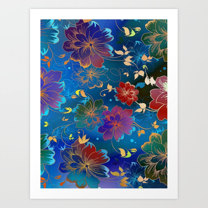 Floral Pattern 2 Art Print