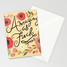 Pretty Swe*ry: Amazing as F Stationery Cards