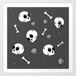 Bones Sinking Like Stones Art Print
