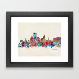 Providence Rhode Island Framed Art Print