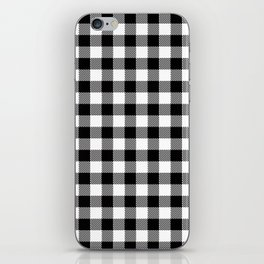 90's Buffalo Check Plaid in Black and White iPhone Skin