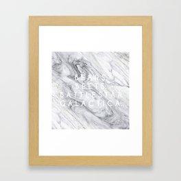Bears Beets Battlestar Galactica (Marble) Framed Art Print