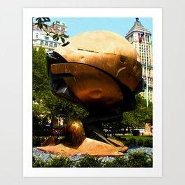 World Trade Center Globe jGibney The MUSEUM Society6 Gifts Art Print