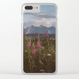 Mountain vibes - Landscape and Nature Photography Clear iPhone Case