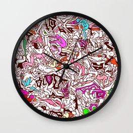 Kamasutra LOVE - Candy Cane Red Wall Clock