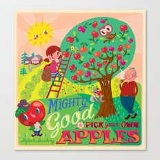 Gerry's apples Canvas Print