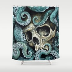 Please my love, don't die so far from the sea... Shower Curtain