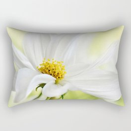 Cosmea white macro 037 Rectangular Pillow
