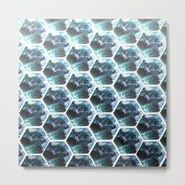 Water Honeycombs Metal Print