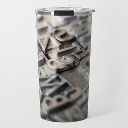 Old Metal Letters Travel Mug