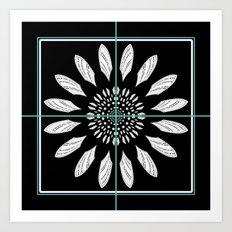 Framed daisy Art Print