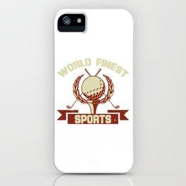 Cool Golf World Finest Tshirt Design iPhone Case