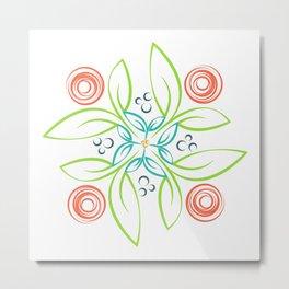 Flower Girl Whirl Metal Print