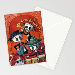 Dia de Muertos Musical Skeleton Band Stationery Cards