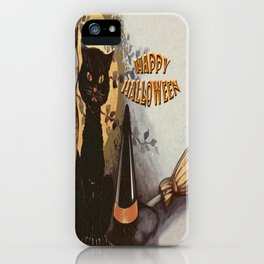 Owl and Cat Halloween iPhone Case