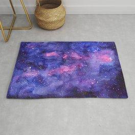 Galaxy Pattern Watercolor Rug
