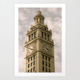 Chicago Clock Tower Art Print