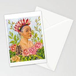Portrait of Queen Calafia Stationery Cards