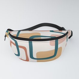 Mid Century Modern Abstract Squares Pattern 443 Fanny Pack