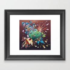 the planet wonderland Framed Art Print