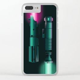 Light Sabers Clear iPhone Case