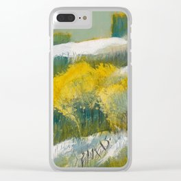 First Snow Landscape Painting / Dennis Weber / ShreddyStudio Clear iPhone Case