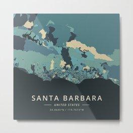 Santa Barbara, United States - Cream Blue Metal Print