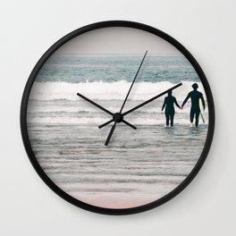 surf love Wall Clock