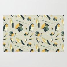 Flying Birdhouse (Pattern) Rug