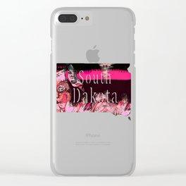 South Dakota Clear iPhone Case