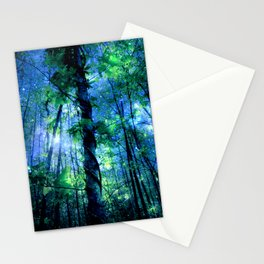 Forest of the Fairies Blue Night Stationery Cards