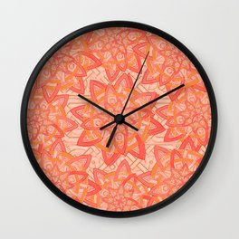 Celtic tones in peach Wall Clock